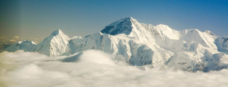 Vistas del Everest, Himalaya, desde el vuelo escénico