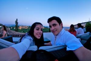 En Granada, con vistas a la Alhambra
