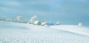 Paisajes nevados en Oslo, Noruega