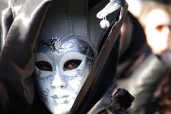 Detalle de máscara en el Carnaval de Venecia