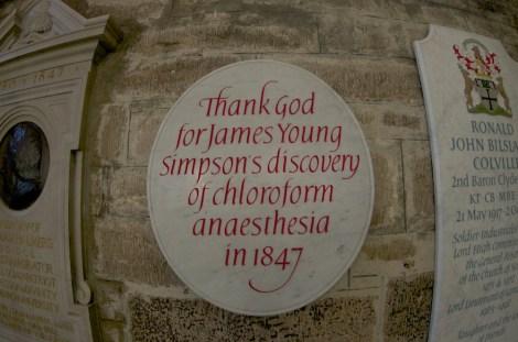 Placa conmemorativa en la catedral Saint Giles de Edimburgo
