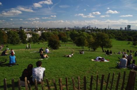 Vistas de Londres desde Primrose Hill