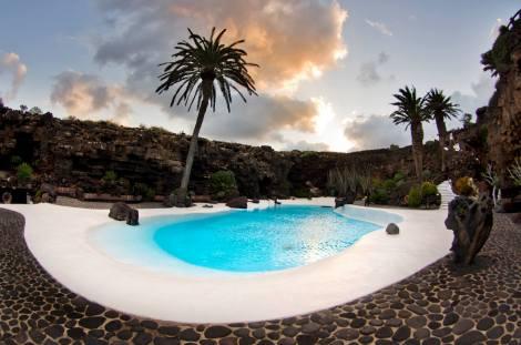 Uno de los espacios en Jameos del Agua, creado por César Manrique
