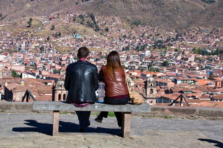Vistas panorámicas de Cuzco desde la Iglesia de San Cristobal