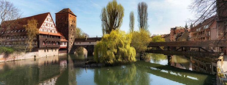 Panorámica del Puente del Verdugo en Nuremberg