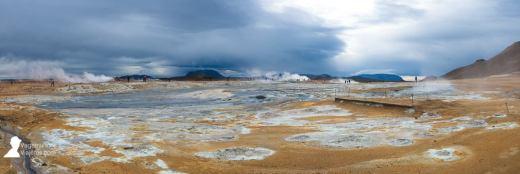 Zona geotermal Hverir en las inmediaciones del lago Myvatn, Islandia