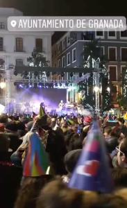 Concierto de Nochevieja en la plaza del Ayuntamiento de Granada