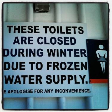 En Nueva Zelanda ir al baño en invierno es complicado...