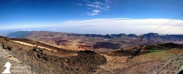 Vistas desde la Rambleta tras ascender en el teleférico del Teide