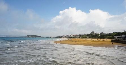 Playa del Sardinero en Santander, Cantabria