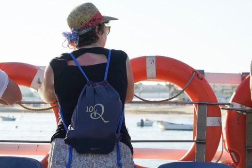 En el barco que cruza el Guadalquivir desde Sanlúcar a Doñana, ya en Huelva