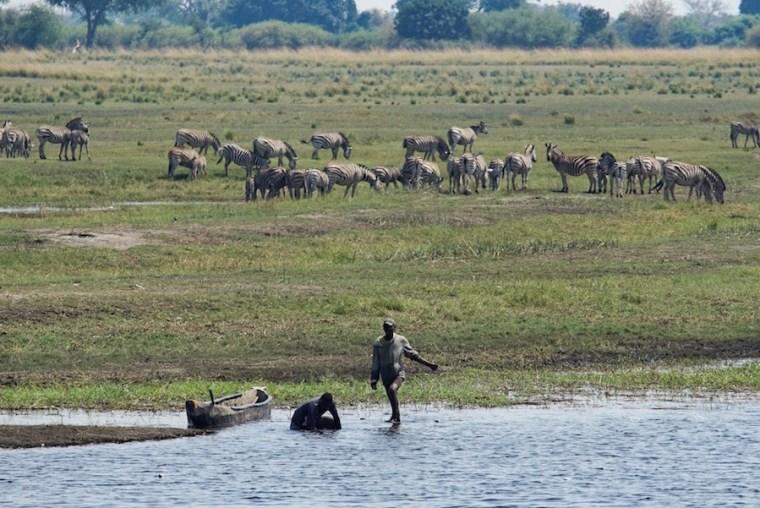 El río Chobe, en Botswana
