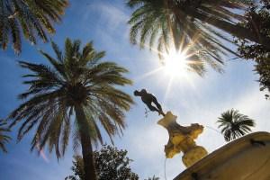 Fuente en los jardines del Real Alcázar de Sevilla
