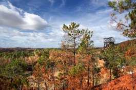 Alrededores de la la mina Peña de Hierro en Riotinto, Huelva
