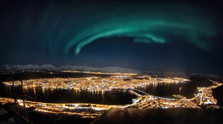 Auroras boreales sobre Tromso