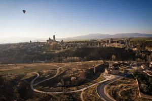 Panorámica de Segovia con la Catedral y el Alcázar