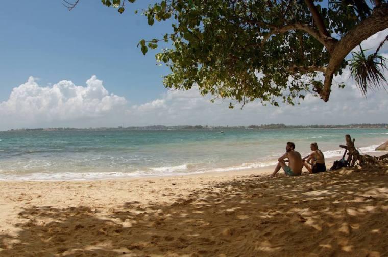 Jungle Beach, una playa muy recomendable cercana a Galle, Sri Lanka