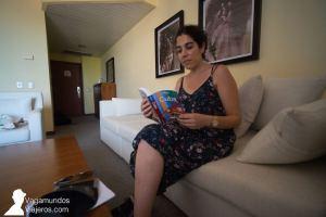 Saloncito de nuestra habitación en el hotel Memories Miramar de La Habana, Cuba