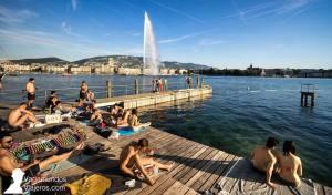 Baños de Paquis: la playa de Ginebra