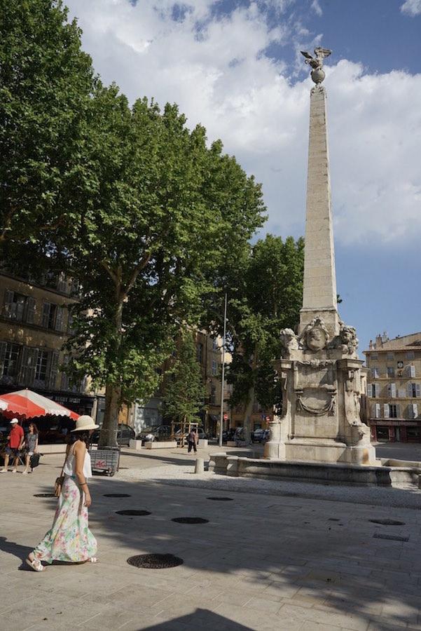Place des Precheurs en Aix en Provence, Francia