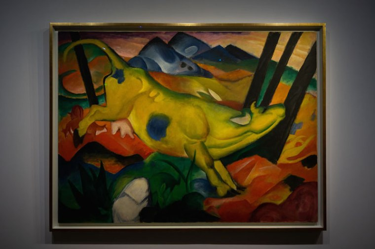 Cuadro de Kandinsky en la exposición de la Colección Tannhauser en el Hotel du Caumont, Aix en Provence