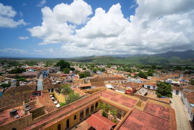 Vistas de Trinidad desde el campanario del Convento de San Francisco, hoy Museo de los Bandidos