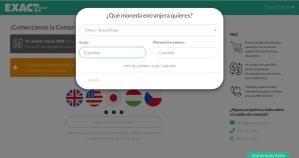 Cambio de moneda online con Exact Change