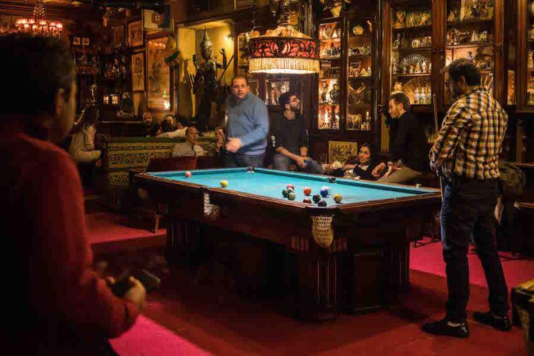 Sala de billar en el bar Pavilhao Chines, Lisboa