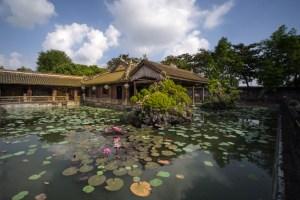 Pabellón en los jardines de la Ciudad Imperial de Hue