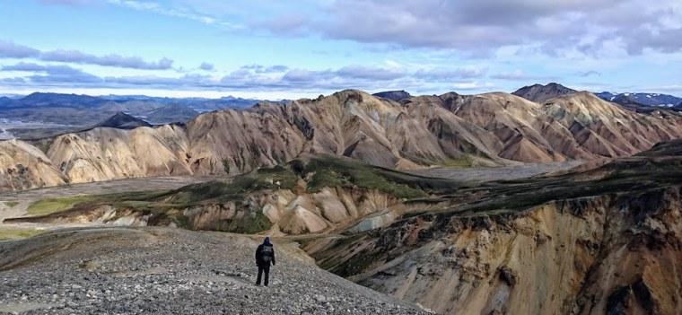 Vistas de Landmannalaugar desde la montaña Blahnjukur