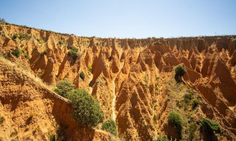 Las cárcavas de Patones pertenecen en realidad a la provincia de Guadalajara