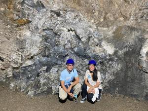 La Geoda Partida, la segunda en tamaño dentro de la Mina
