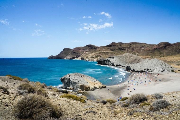 La playa de Mónsul, en Cabo de Gata, Almería