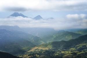 Vistas de los Picos de Europa durante la ruta al Pico Pienzu, Asturias