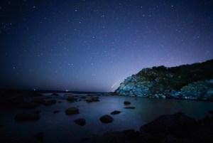 El cometa Neowise observado desde las islas Cíes