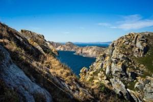 Vistas en la ruta al Faro de las Cíes