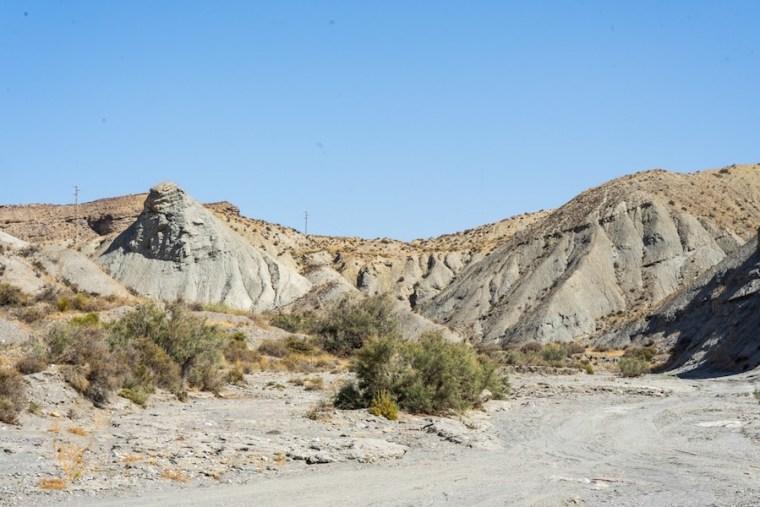 Camino en el desierto de Tabernas, Almería