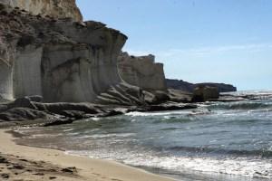 Dunas fosilizadas en la Cala de Enmedio, Cabo de Gata
