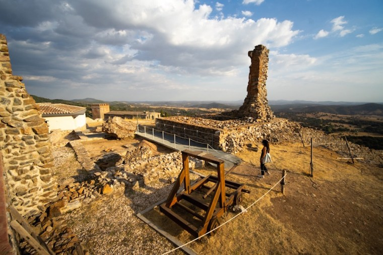 Visita en el interior del Castillo de Aracena