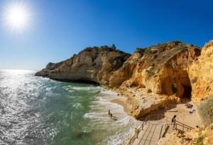 Playa de Paraíso, en Carvoeiro