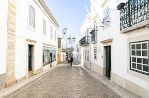 Calles de Cidade Velha en Faro