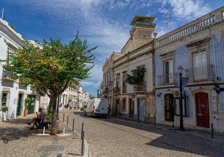Calles del centro histórico de Tavira