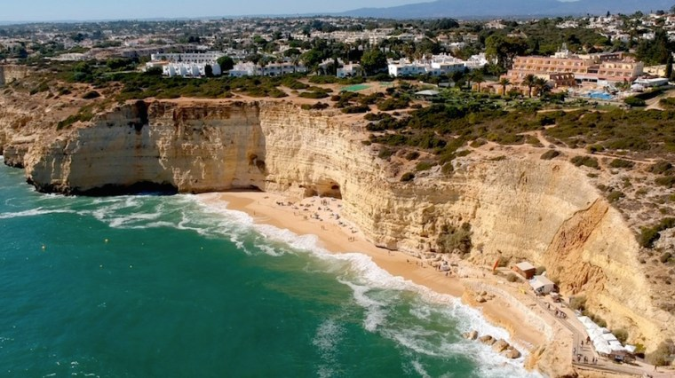Playa Vale de Centeanes en el Algarve