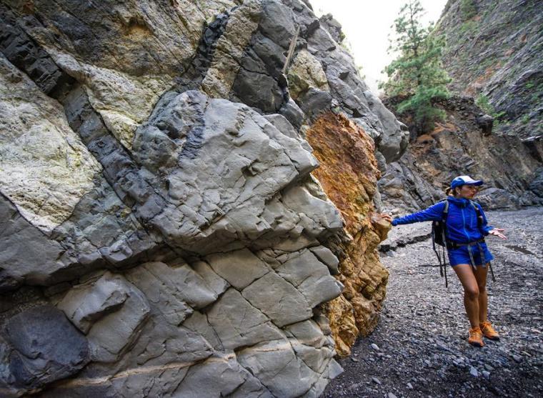 Rocas de origen volcánico en la Caldera de Taburiente, La Palma
