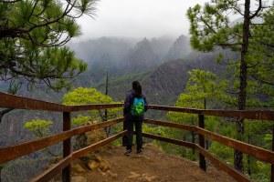 Mirador de Lomo de las Chozas en la Caldera de Taburiente, La Palma