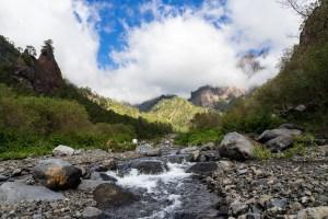 Río Taburiente a su paso por el Barranco de las Angustias en el interior de la Caldera de Taburiente, La Palma