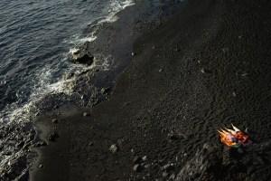 Playa de arena negra en El Remo, La Palma