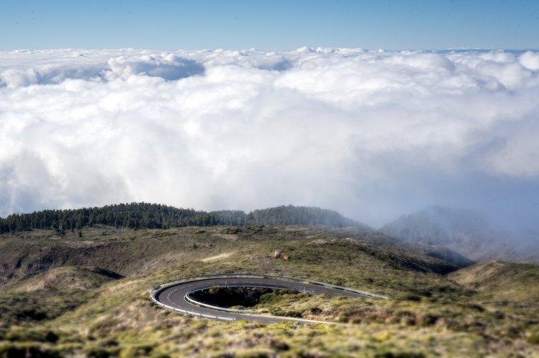 Carretera de subida al Roque de los Muchachos