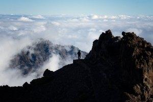 Literalmente, sobre un mar de nubes, en Roque de los Muchachos