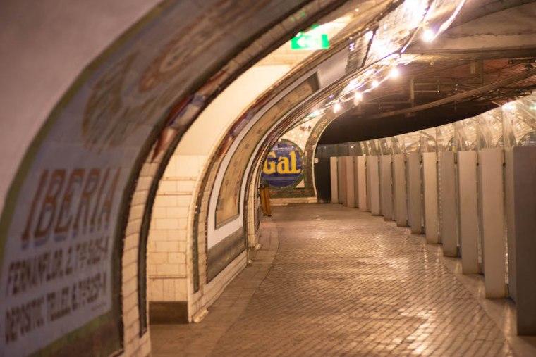 Andén de la estación secreta de Chamberí, Metro Madrid